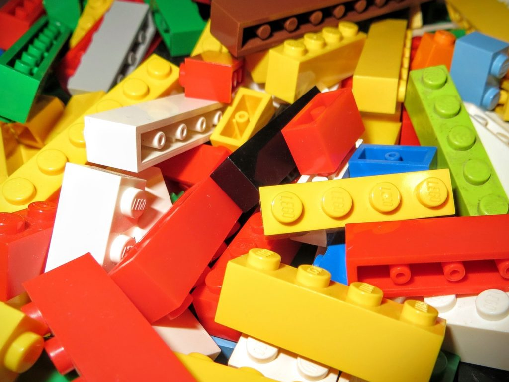 Colorful Lego Blocks can be used to build almost anything you can image