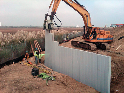 Truline Hybrid Sheet Piling System - Plastic Extrusions